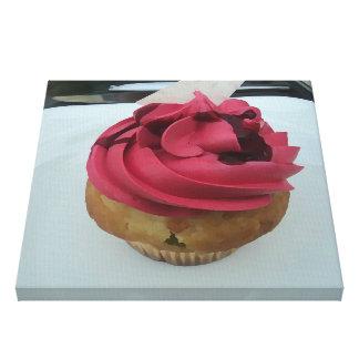 Hot Pink Cupcake Canvas Print