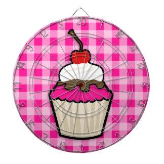 Hot Pink Cupcake Dart Board