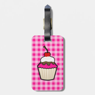 Hot Pink Cupcake Tags For Luggage