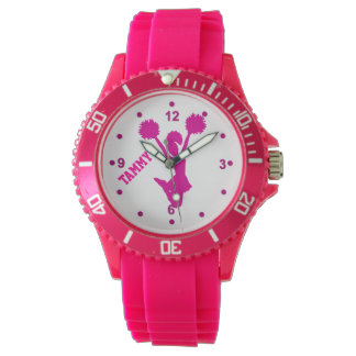Hot Pink Custom Cheerleader's Watch