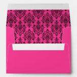 Hot Pink Custom Envelope with Return Address Envelope