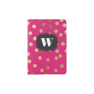 Hot Pink Custom Monogram Passport Cover Passport Holder