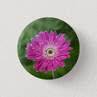 Hot pink daisy button