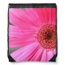 Hot Pink Daisy Drawstring Bag
