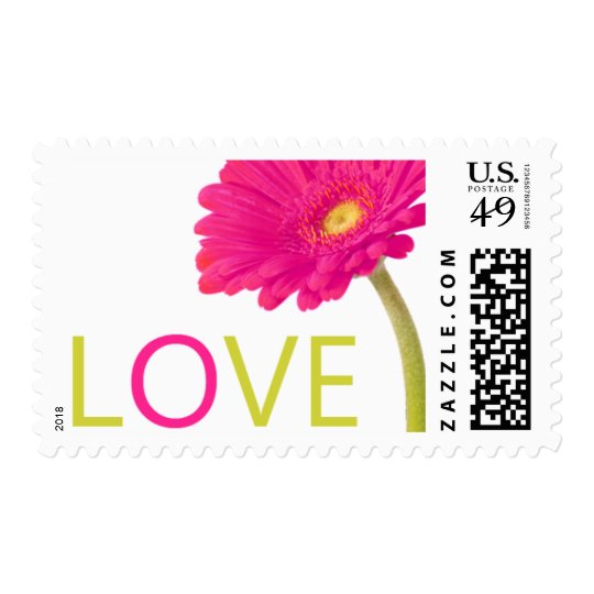Hot Pink Daisy Gerbera Love Stamps