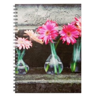 Hot Pink Daisy Spiral Notebooks