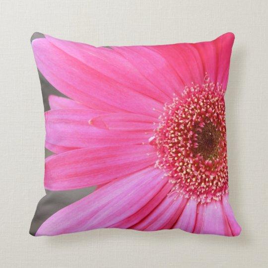 Hot Pink Daisy Throw Pillow