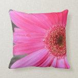 Hot Pink Daisy Throw Pillows