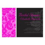 Hot Pink Damask Bridal Shower Invitations Custom Invite