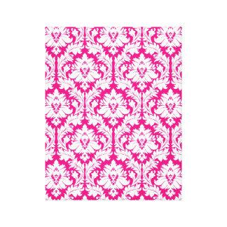Hot Pink damask Canvas Prints