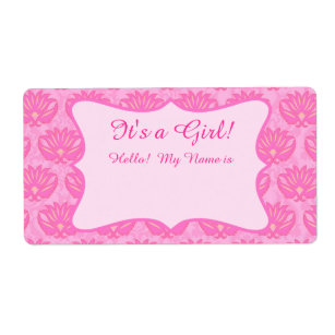 Baby Shower Name Tag Labels Zazzle