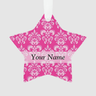 Hot pink damask pattern