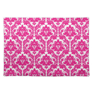 Hot Pink Damask Placemat