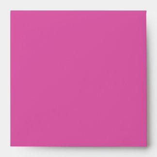 Hot Pink Damask Square Envelope
