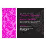 Hot Pink Damask Wedding Invitations Invitations