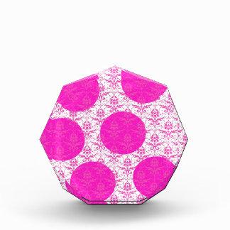Hot Pink Damask with Pink Polka Dots Awards