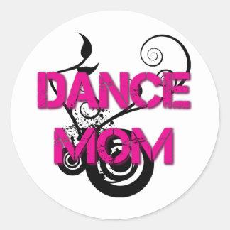 Hot Pink Dance Mom Sticker