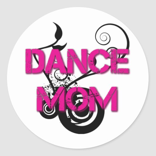 Hot Pink Dance Mom Sticker