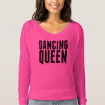 Hot Pink Dancing Off Shoulder Tee at Zazzle