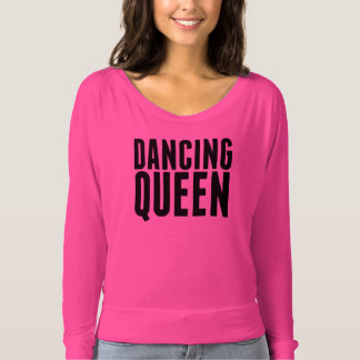 Hot Pink Dancing Off Shoulder Tee