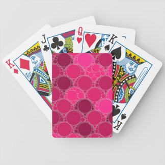 Hot Pink Dark Pink Abstract Bicycle Playing Cards