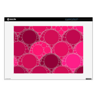 """Hot Pink Dark Pink Abstract Decal For 15"""" Laptop"""