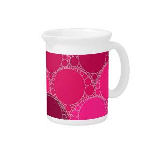 Hot Pink Dark Pink Abstract Drink Pitcher