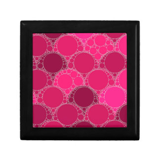 Hot Pink Dark Pink Abstract Jewelry Box
