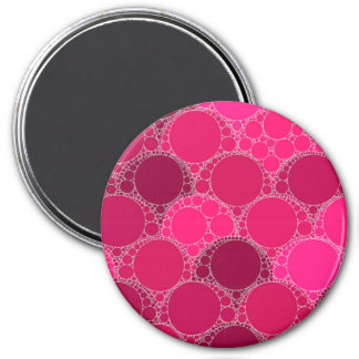 Hot Pink Dark Pink Abstract Magnet