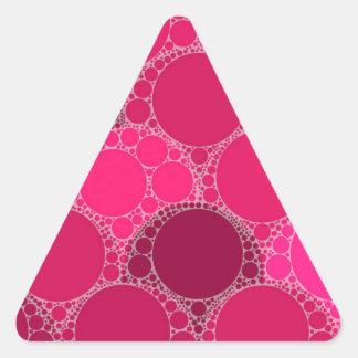 Hot Pink Dark Pink Abstract Triangle Sticker