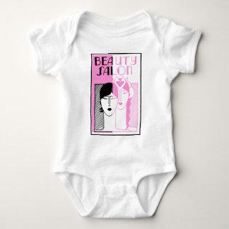 Hot Pink Deco Beauty Shop Baby Bodysuit
