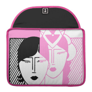 Hot Pink Deco Beauty Shop MacBook Pro Sleeve