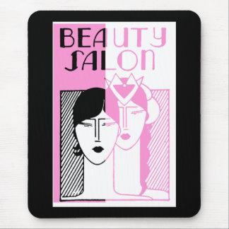 Hot Pink Deco Beauty Shop Mouse Pad