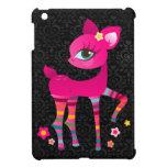 Hot Pink Deerie in Rainbow Socks - iPad Mini Case