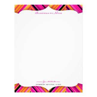 Hot Pink Diags Letterhead
