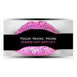 Hot Pink Diamond Bling MakeUp Artist Biz Cards Pack Of Standard Business Cards