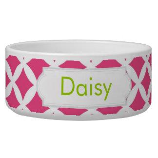 Hot Pink Diamonds Dog Bowls