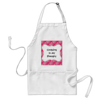 Hot Pink Double Hearts Polka Dots Valentine's Day Adult Apron
