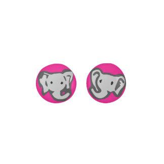 Hot Pink Elephant Earrings