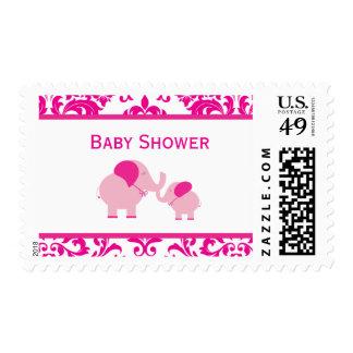 Hot Pink Elephants Stamp