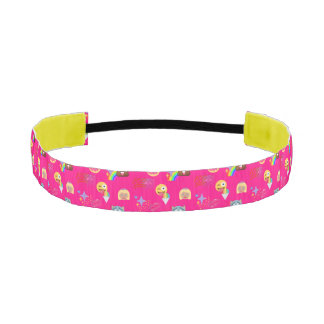 hot pink emoji headband