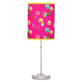 hot pink emoji lamp