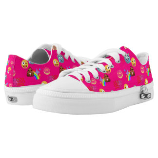 hot pink emoji shoes sneakers