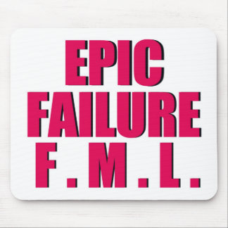 Hot Pink Epic Failure Mouse Pad