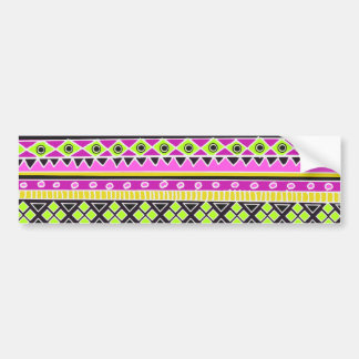 Hot Pink ethnic pattern Bumper Sticker