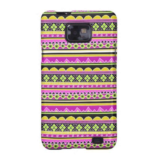 Hot Pink ethnic pattern Galaxy S2 Case