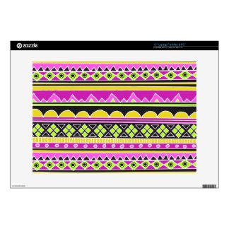 Hot Pink ethnic pattern Laptop Skin