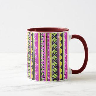 Hot Pink ethnic pattern Mug