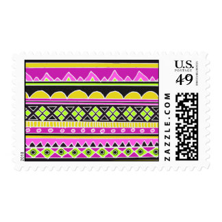 Hot Pink ethnic pattern Stamps