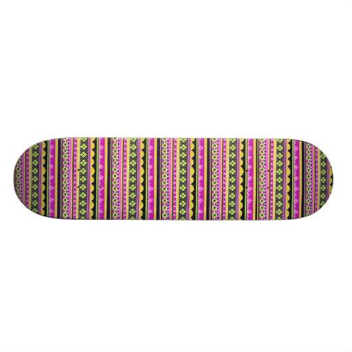 Hot Pink ethnic pattern Skateboard Decks